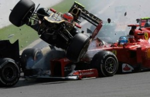 The alarming shunt at Spa did not curb the Frenchman's wild habit of race-start incidents