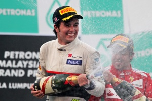 He was delighted to get his first podium in F1, but was close to snatching the race win in Malaysia