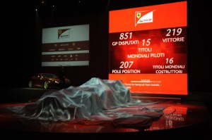 Before the covers were taken off the new car, Ferrari displayed its its F1 statistics in numbers - a show of its successful history in the sport