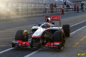 Button will have a new team mate this year in Sergio Perez