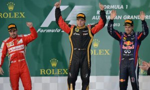 Lotus' Raikkonen took his only win of the year in the opening weekend