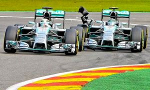 Mercedes missed out on scoring big points due to the early clash