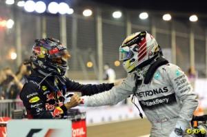 Vettel congratulated Hamilton after the race
