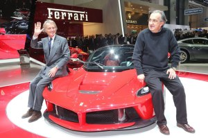 Marchionne has replaced long-serving Luca Di Montezemolo (L) as the man in charge