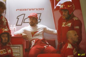 Alonso retired early on an afternoon where drivers thoughts turned away from racing
