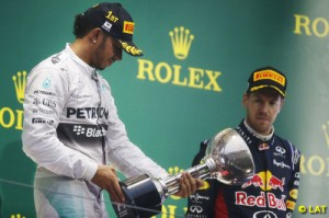 Vettel was muted in light of Bianchi's accident after the race