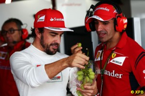 Alonso has had to bat away persistent questions about his future this weekend