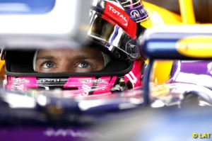 Vettel finished ahead of his team-mate Ricciardo