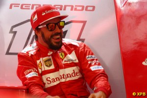 Alonso finished less than a second ahead of Sebastian Vettel